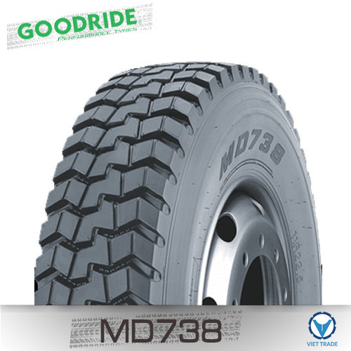 Lốp xe Goodride 10R22.5 MD738